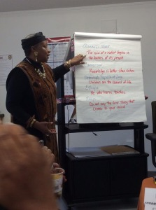 Mwalimu teaching