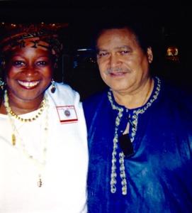 Dr. Asa G. Hilliard with Mwalimu Melodye Micere Van Putten