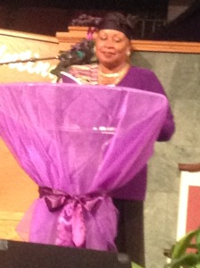 Poetry reading at Church of God's Phenomenal Women Celebration