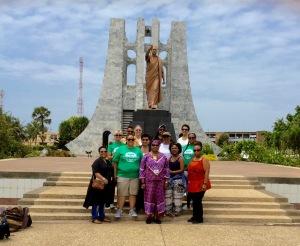 Ashay U Students at the Kwame Nkrumah Memorial Park