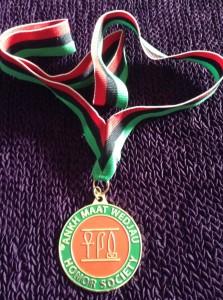 NCBS' Ankh Ma'at Weduja Honor Society Medal