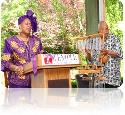 Picture:  Van Putten and Percussionist Thomas Lowery performing at Temple University (2011)