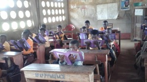 Bonwire Primary School and Ashay Experience work booklets