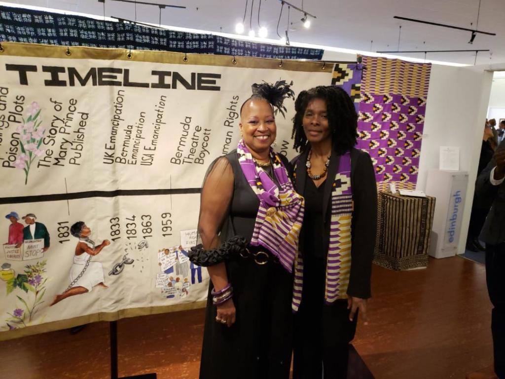 Mwalimu Melodye Micere Van Putten and Artist Angela Ming Bean at the grand unveiling